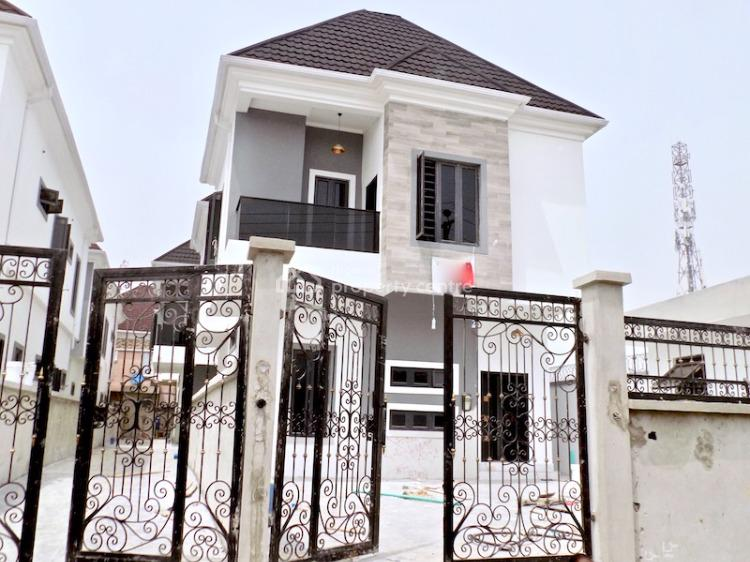 New House Big Compound 4 Bedrooms Fully Detached Duplex with Bq, Chevron, Lekki, Lagos, Detached Duplex for Sale