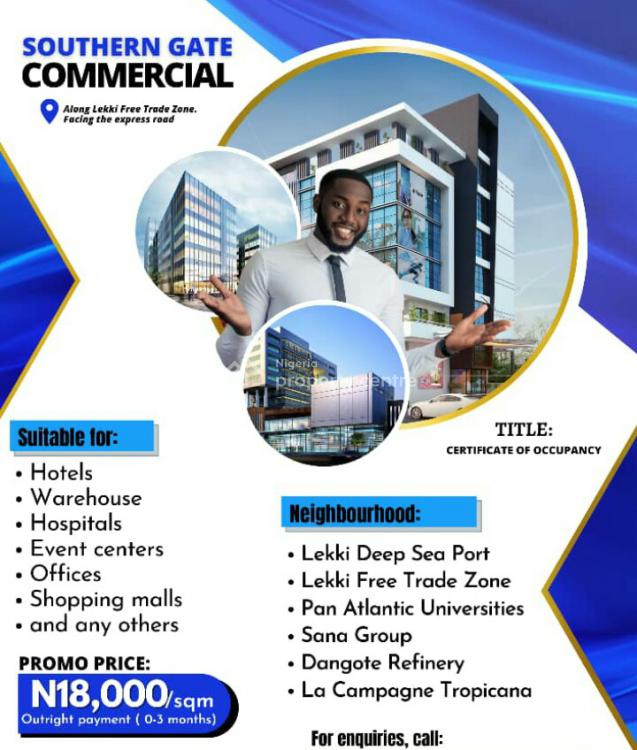 Land for Commercial Purpose Facing The Express Road with C of O, Southern Gate Commercial, Osoroko, Ibeju Lekki, Lagos, Commercial Land for Sale
