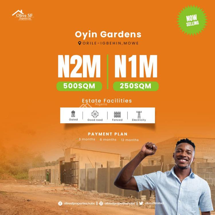 Registered Survey and Deed, Orile-igbehin, Mowe Ofada, Ogun, Residential Land for Sale