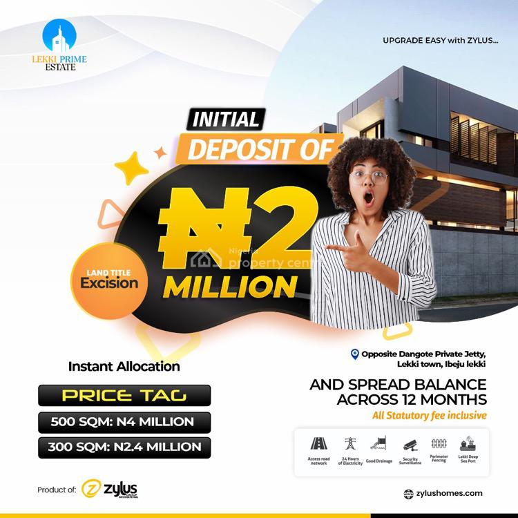 Government Approved Excision, Lekki Town,opposite Dangote Private Jetty, Ibeju Lekki, Lagos, Residential Land for Sale