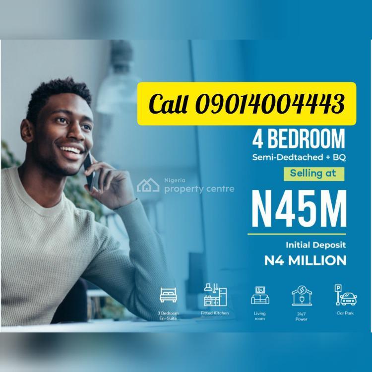 4 Bedroom Semi-detached Duplex with Bq, Gra, Abijo, Lekki, Lagos, Semi-detached Duplex for Sale