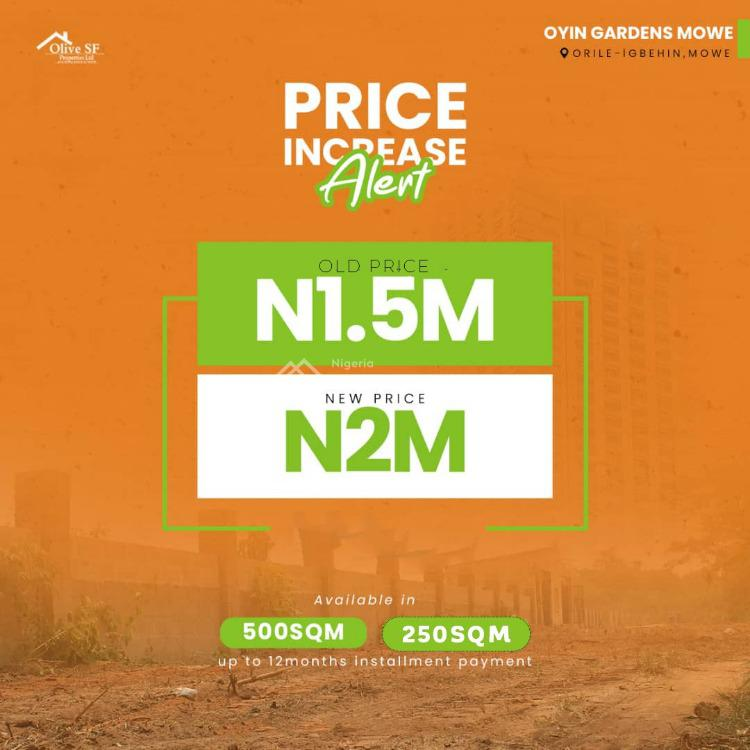 Land, Orile Igbehin Mowe, 10 Minutes Drive From Redemption Camp Lagos Ibadan, Mowe Town, Ogun, Mixed-use Land for Sale