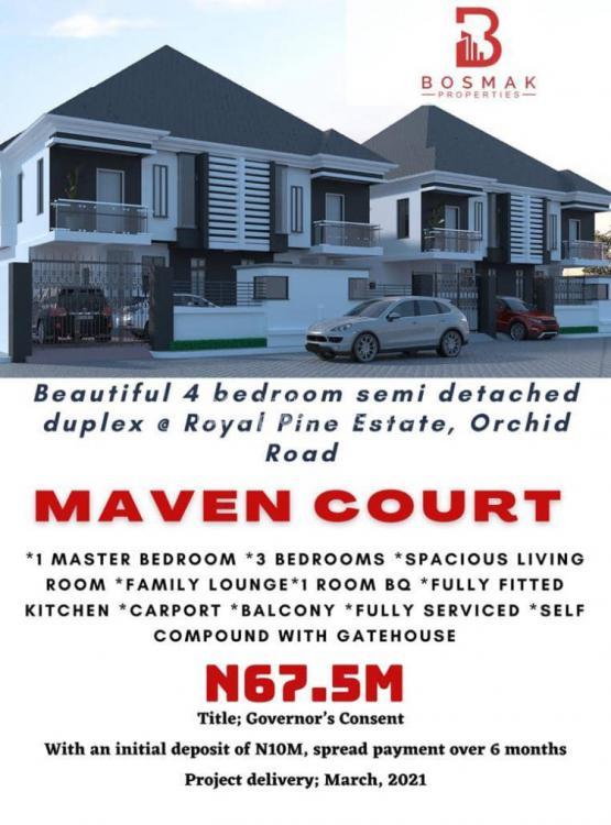 4 Bedrooms Semi Detached Duplex with Bq, Maven Court, Lekki, Lagos, Semi-detached Duplex for Sale