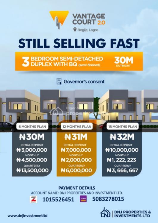Stunning 3 Bedroom All Ensuits Semi Detached Duplex with Bq, Bogije, Ibeju Lekki, Lagos, Semi-detached Duplex for Sale