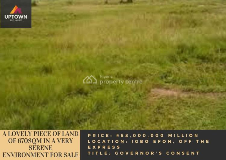 a Lovely Piece of Land of 670sqm in a Very Serene Environment, Igbo Efon, Lekki, Lagos, Mixed-use Land for Sale
