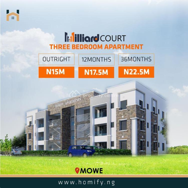 3 Bedrooms Apartment, Mowe Town, Ogun, Flat for Sale