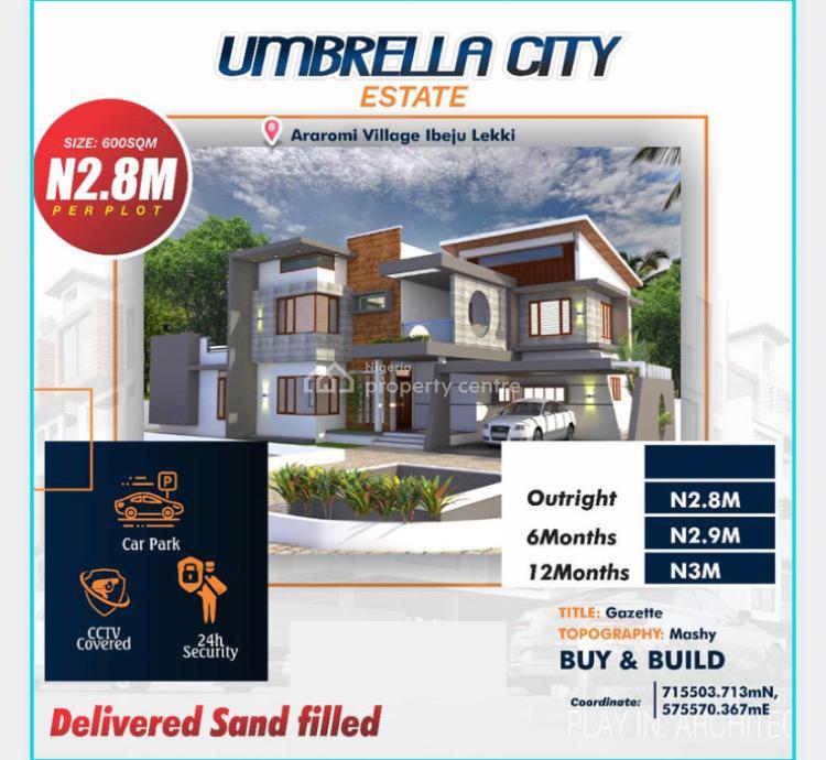 Buy & Build Land on Promo with Good Neighborhood Attractions, Umbrella City, Ibeju Lekki, Lagos, Mixed-use Land for Sale