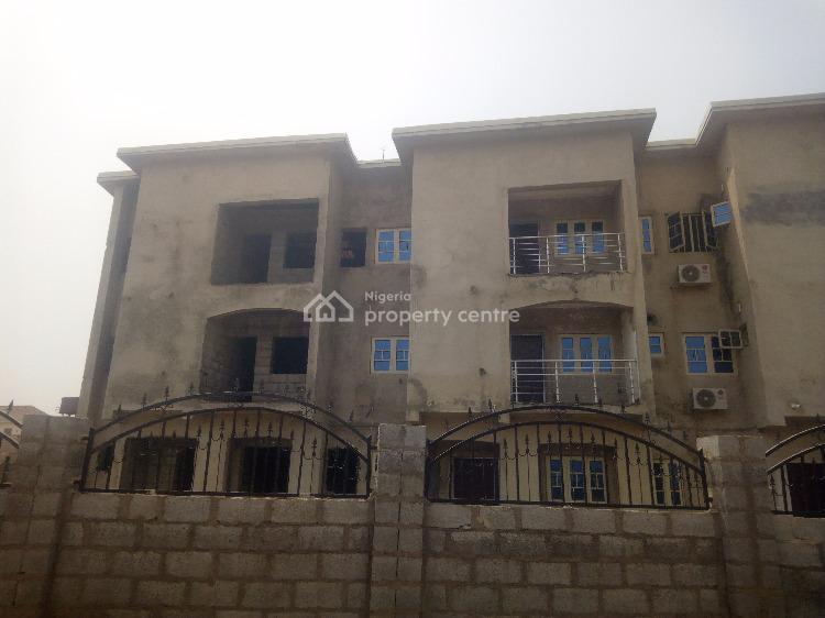 Four Bedrooms Terrace Carcass, By Peace Apartment, Jahi, Abuja, Terraced Duplex for Sale