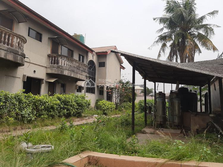 7 Bedroom Mansion, Penthouse, Office on 4 Plots, Canal Estate, Okota, Isolo, Lagos, Detached Duplex for Sale