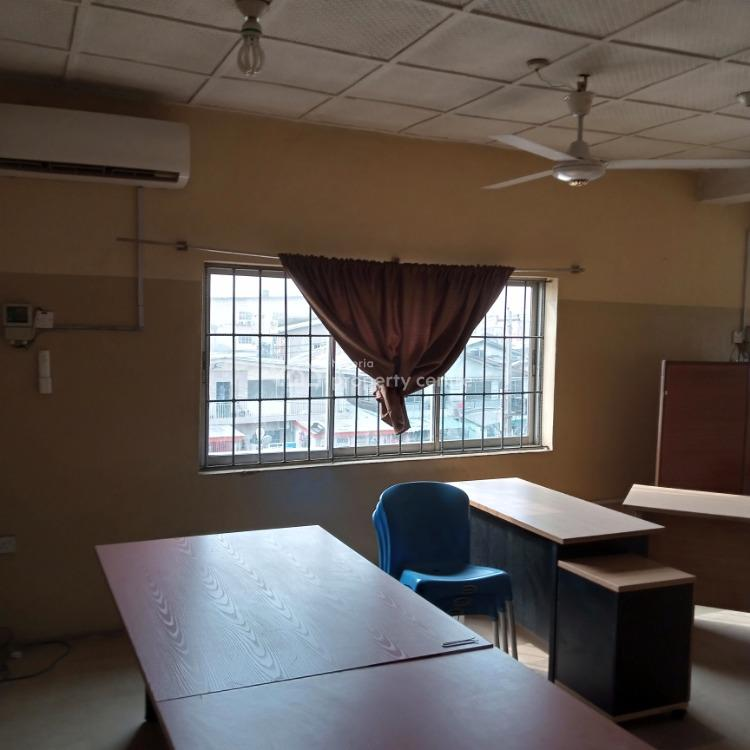 a  Clean 44 Square Meter and Spacious Office Space with Ac, Oba Akran, Ikeja, Lagos, Office Space for Rent