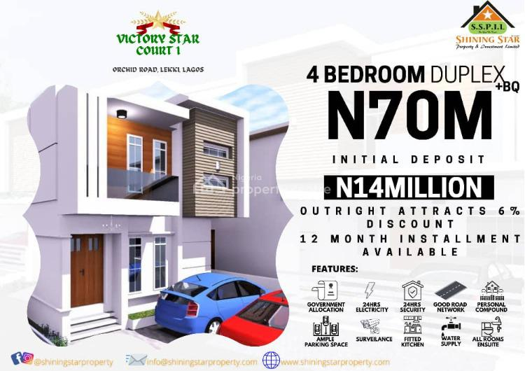 Four Bedroom Terrace House, Victoria Star Court 1 Orchid Road, Lekki, Lagos, Terraced Duplex for Sale