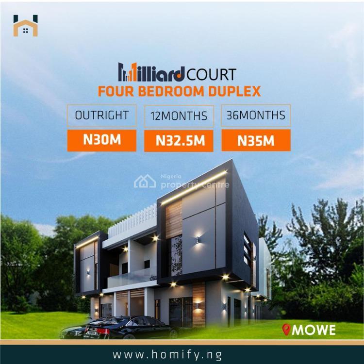 4 Bedroom Duplex, Mowe Town, Ogun, Detached Duplex for Sale
