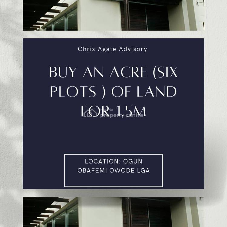 an Acre of Land (six Plots of Land), Obafemi Owode Lga, Mowe Ofada, Ogun, Land for Sale