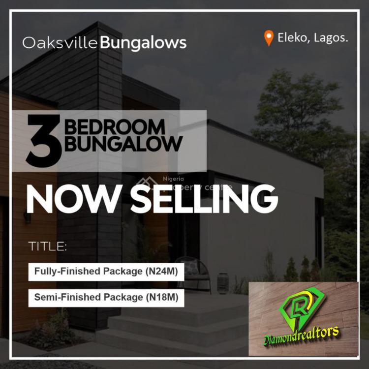Luxury 3 Bedroom Detached Bungalow, Eleko, Eleko, Ibeju Lekki, Lagos, Detached Bungalow for Sale