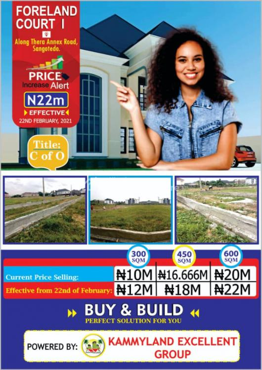 Luxury Residential Estate Land, Forland Court Phase1,by Blenco Supermarket, Sangotedo, Ajah, Lagos, Residential Land for Sale