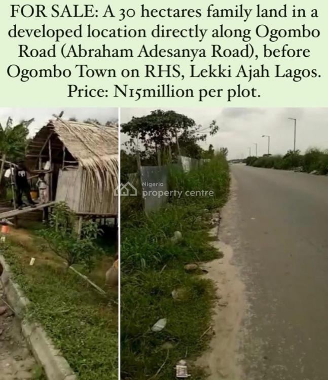 a 30 Hectares of Land Family, Abraham Adesanya, Awoyaya, Ibeju Lekki, Lagos, Mixed-use Land for Sale