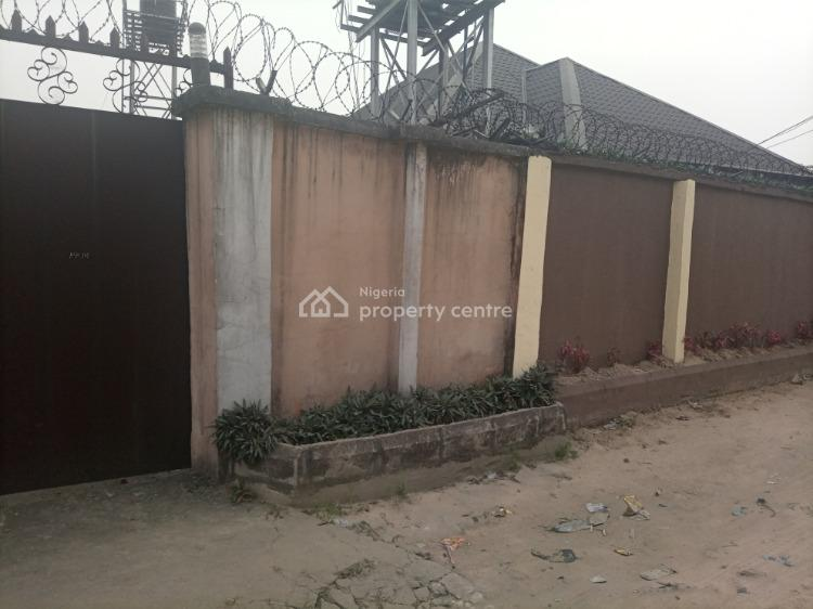 Well Located Table Flat Dry Land with Bungalow, Parkland Estate Peter Odili Road, Port Harcourt, Rivers, Residential Land for Sale