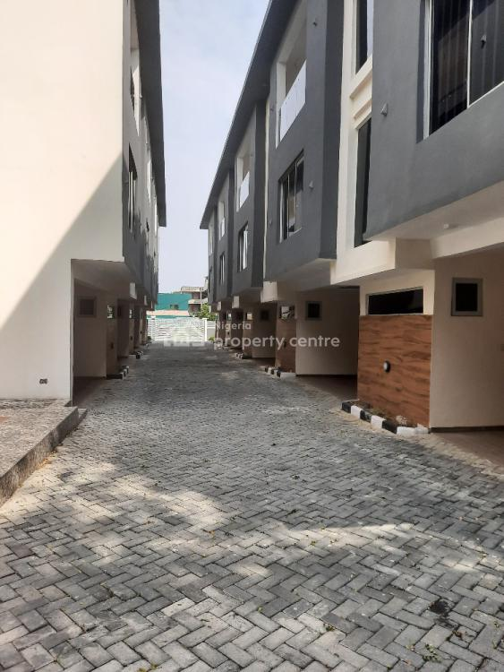 Superbly Finished 4 Bedrooms Terraced House with a Room Bq, Off Adeola Odeku Street, Victoria Island (vi), Lagos, Terraced Duplex for Sale