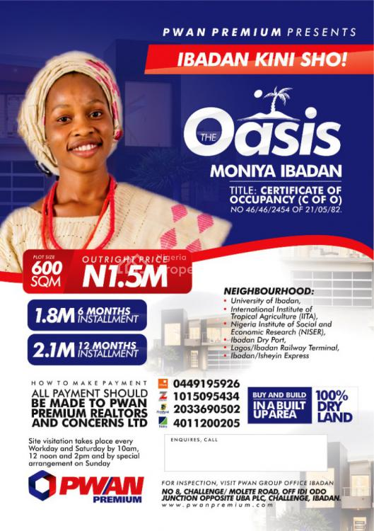 Plots of Land, Oasis Estate, Ibadan, Oyo, Mixed-use Land for Sale