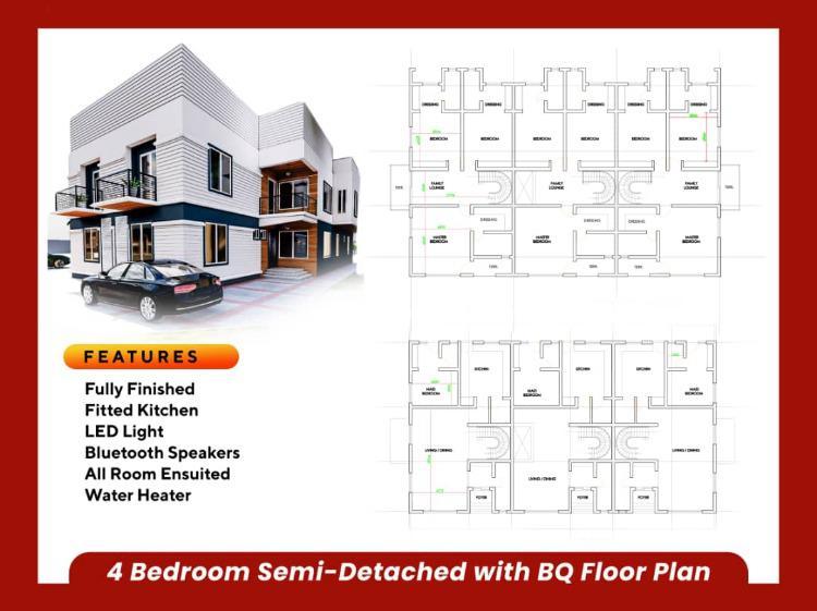 Luxury 4 Bedroom Semi Detached Duplex with Bq in a Beautiful Estate, Ajah, Lagos, Semi-detached Duplex for Sale