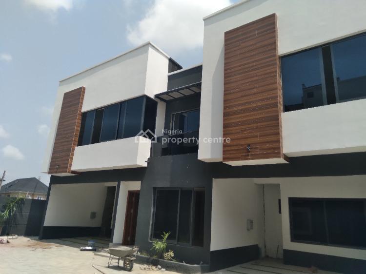 Brand New Serviced 4-bedroom Terrace House with Bq, Osapa, Lekki, Lagos, Terraced Duplex for Sale
