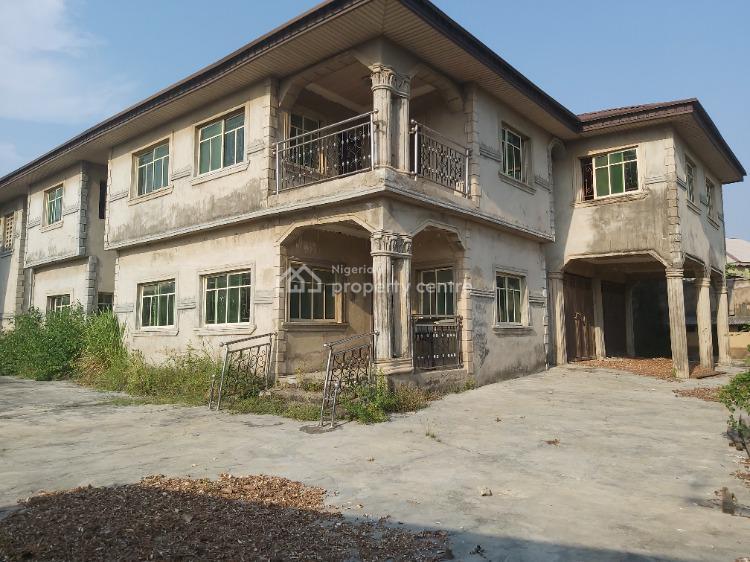 Massive 8 Bedroom Duplex Ensuite with 4 Sitting Room and Bq, Abule Oshorun Road, Ibeshe, Ikorodu, Lagos, Detached Duplex for Sale