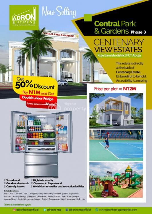 Central Park and Gardens, Behind Centenary City, Kuje, Abuja, Residential Land for Sale