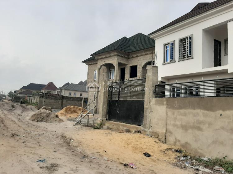 Distress 4 Bedroom Duplex Uncomplited Building, Wale Alimi Street Opposite Attican Beach Resorts, Okun-ajah, Ajah, Lagos, Detached Duplex for Sale