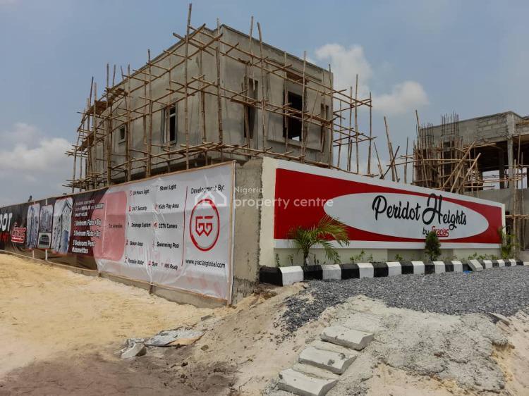 Luxury 2 Bedroom Flat with a Bq, Sangotedo Eti-osa, Peridot Heights By Gracias, Sangotedo, Ajah, Lagos, Semi-detached Duplex for Sale
