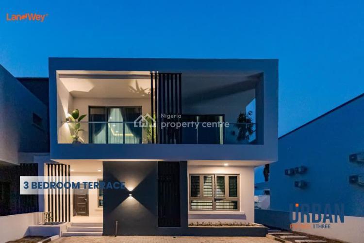 Luxury 3 Bedroom Terrace with Standard Bq, Abraham Adesanya, Ogombo Road, Ajah, Lagos, Terraced Duplex for Sale