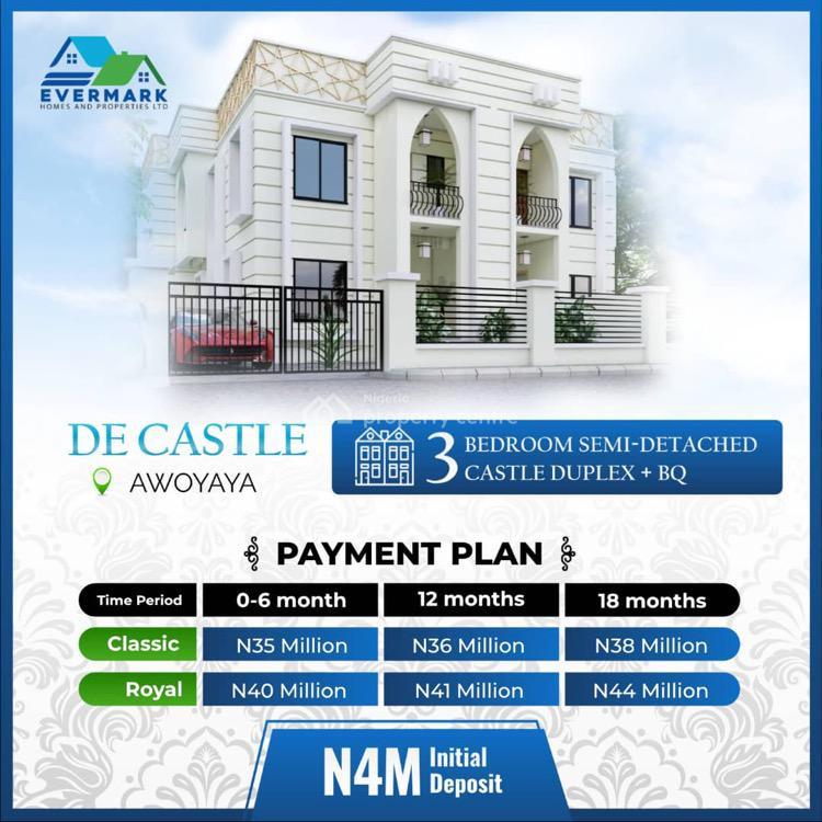 Luxury 3 Bedroom Semi Detached Duplex, De Castle Estate, Awoyaya, Ibeju Lekki, Lagos, Semi-detached Duplex for Sale