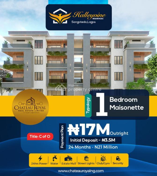 1 Bedroom Mainsionte with Good Title Cof O, Sangotedo, Ajah, Lagos, House for Sale