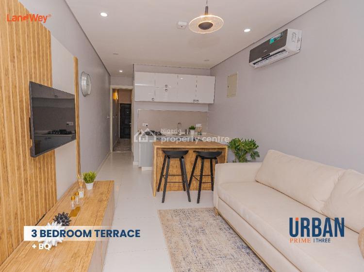 Beautiful 3 Bedroom Terrace with Studio Apartment, Abraham Adesanya Estate, Ajah, Lagos, Terraced Duplex for Sale