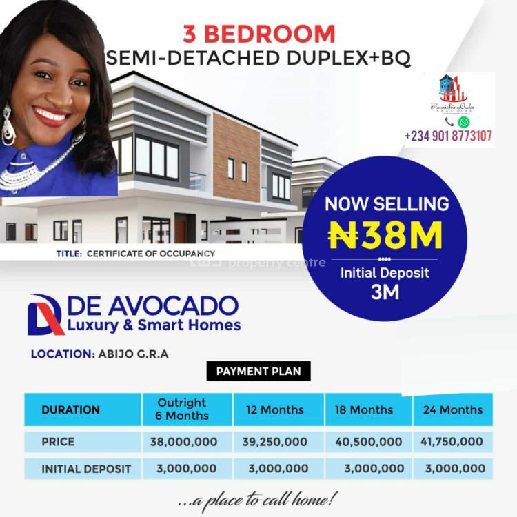 Luxury & Smart 3 Bedrooms Semi-detached Duplex, Abijo Gra, Lekki, Lagos, Semi-detached Duplex for Sale