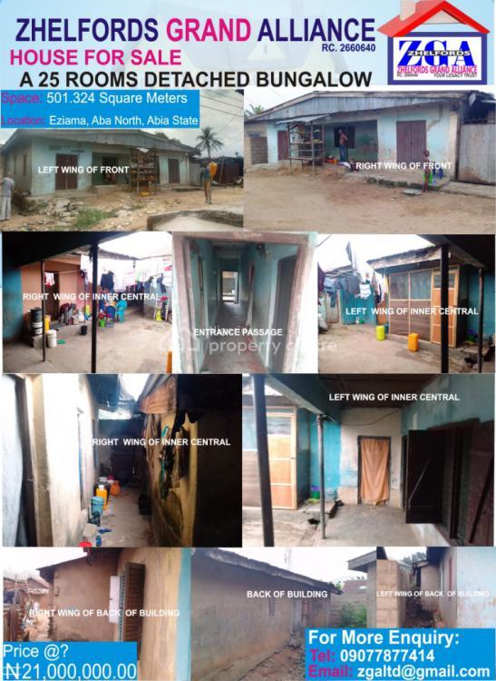25 Rooms Detached Bungalow, Eziama, Aba, Abia, Commercial Property for Sale