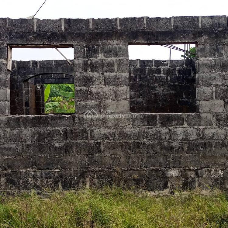 Distressed 2 Wings of 3 Bedroom Flat to Lintel Level on a Corner, Casia Estate Opp Corona School Abijo Gra Lekki Epe Express Way, Abijo, Lekki, Lagos, Residential Land for Sale