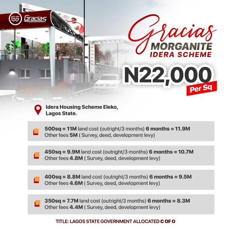 Plots of Land, Gracias Morganite, Idera, Eleko, Ibeju Lekki, Lagos, Residential Land for Sale
