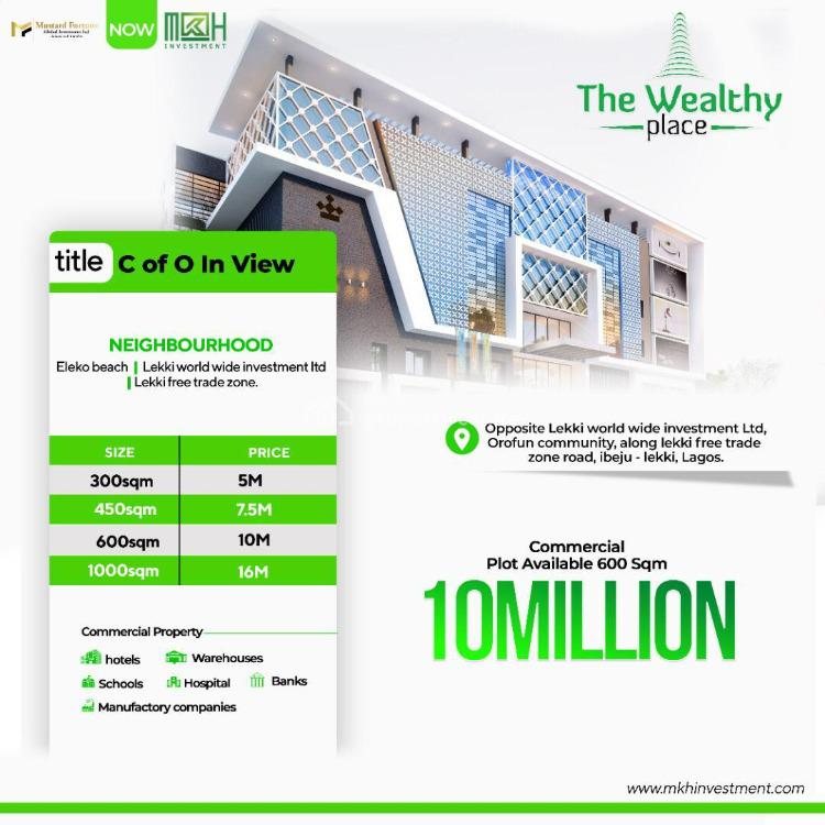 Premium Estate Land in Very Prime Location, Wealthh Place, Orofun : Directly Facing The Lftz Road, Ibeju Lekki, Lagos, Commercial Land for Sale