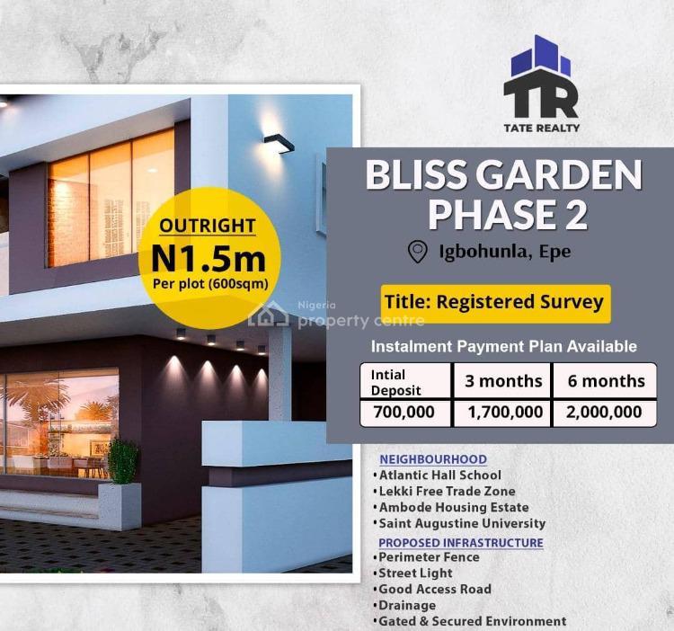 Mixed-use Land, Bliss Garden Phase 2, Igbonla, Epe, Lagos, Mixed-use Land for Sale
