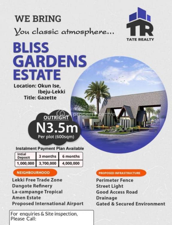 Mixed-use Land, Bliss Garden, Okun Ise, Ibeju Lekki, Lagos, Mixed-use Land for Sale
