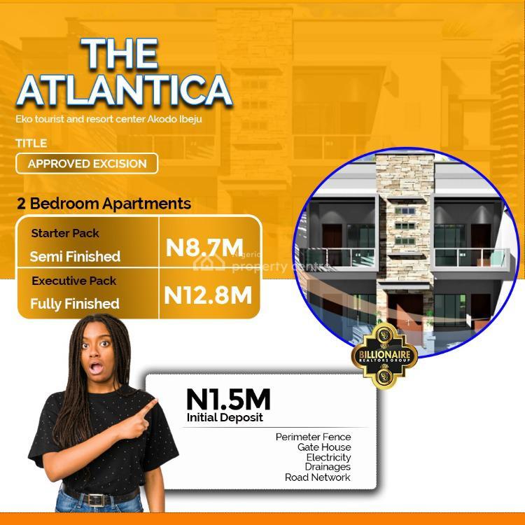 The Atlantica 2 Bedrooms All Room - Ensuite Apartment, Opposite Eko Tourist Centre, Ibeju Lekki, Lagos, Block of Flats for Sale