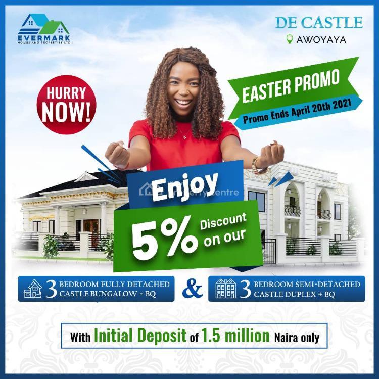 Luxury Fantastic Detached Duplex, De Castle  Estate, Awoyaya, Ibeju Lekki, Lagos, Detached Duplex for Sale