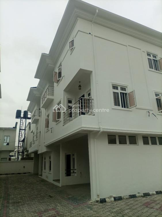 Newly Built and Well Finish Master Piece 4 Bedrooms Townhouse with Bq, Osapa, Lekki, Lagos, Terraced Duplex for Sale