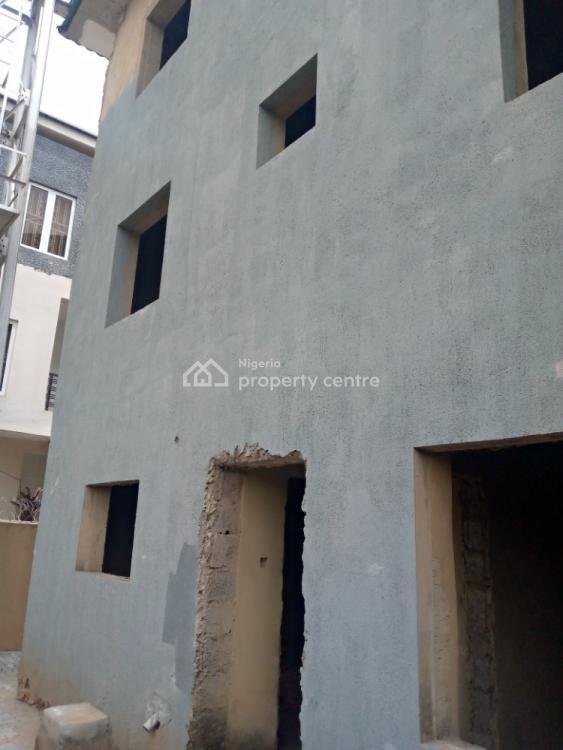 Carcass Terrace 4 Bedroom Duplex with B/q, Guzape District, Abuja, Terraced Duplex for Sale