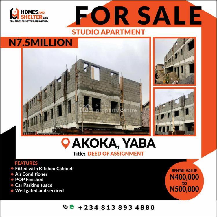 Studio Apartment, Off Fola Agoro Road, Yaba, Lagos, Self Contained (single Rooms) for Sale