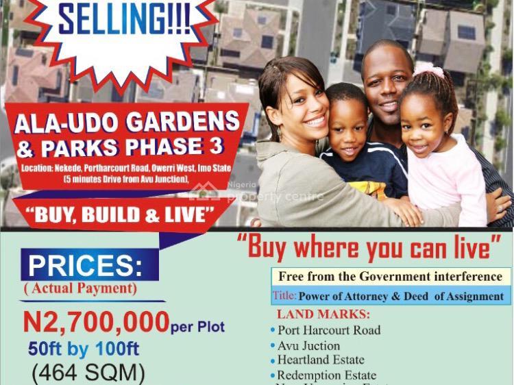 Estate Land, Near Avu Junction, Port Harcourt Road, Nekede, Owerri Municipal, Imo, Residential Land for Sale