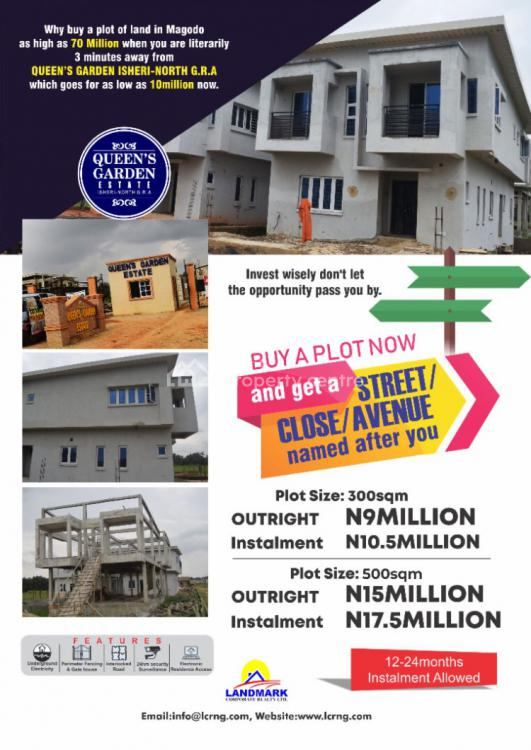 The Fastest Developing Area Within The Mainland, Queens Garden Estate, Gra, Isheri North, Lagos, Residential Land for Sale