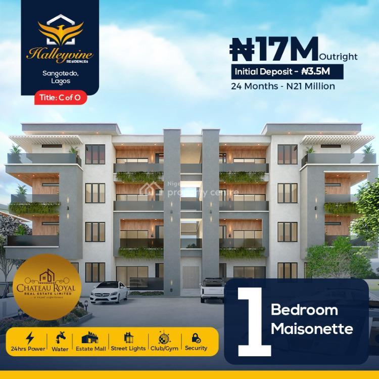 One Bedroom Maisonette Apartment in Good Location, Halleyvine Residence, Sangotedo, Ajah, Lagos, Block of Flats for Sale