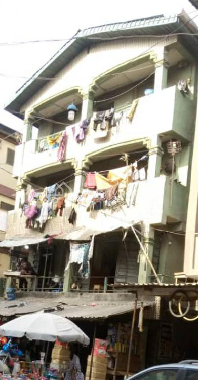 a Building on 3 Floors on a Sizeable Plot, Isle Agbede Street, Off Idumagbo Street, Lagos Island, Lagos, Block of Flats for Sale