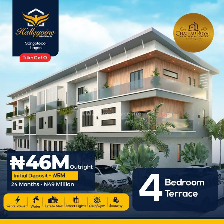 4 Bedrooms Terraced Duplex in Good Location, Halleyvine Residences, Near Novare Shoprite, Sangotedo, Ajah, Lagos, Terraced Duplex for Sale